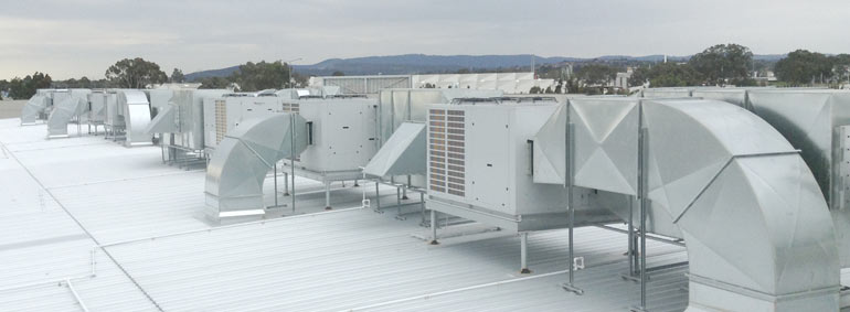 Air Conditioning roof ducting